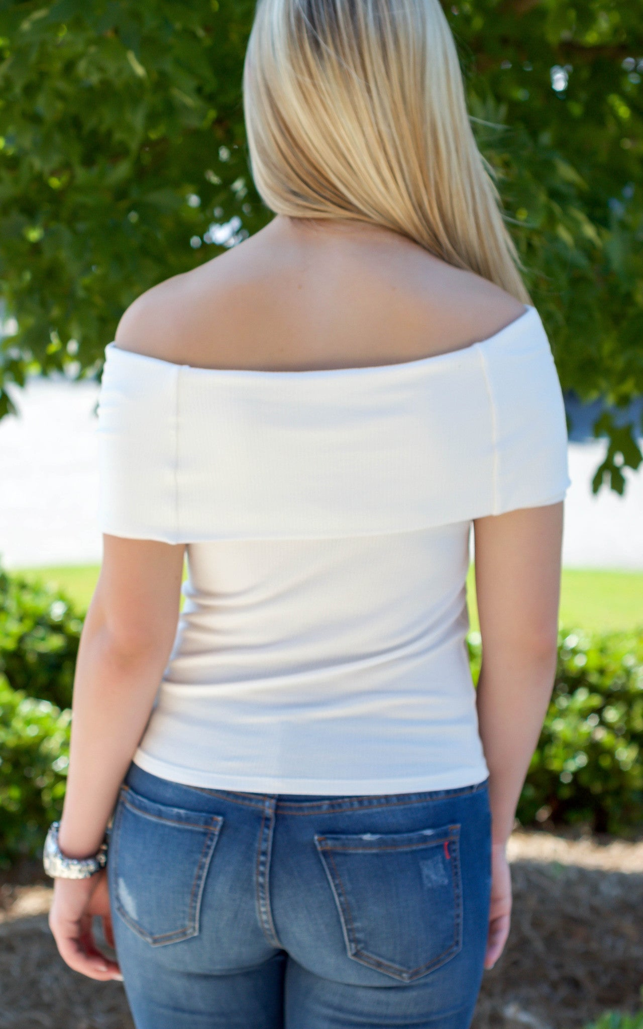 White Off The Shoulder Top - Dawn and Rae Boutique
