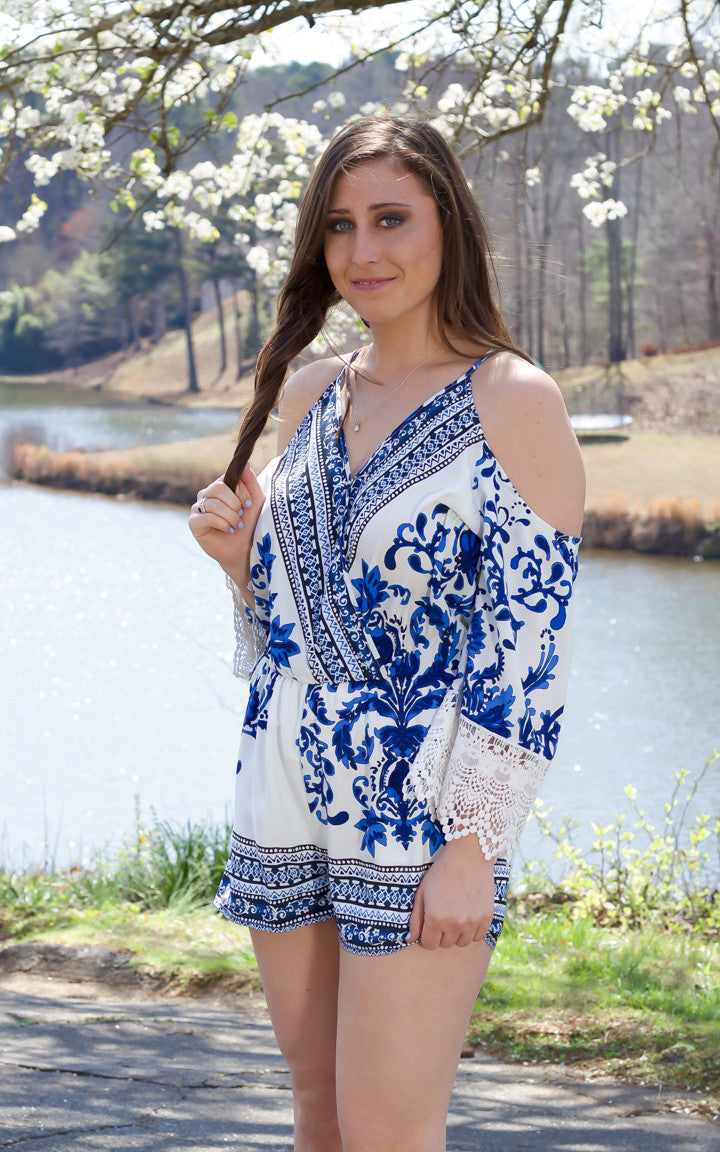 Blissful Dream Cold Shoulder Romper - Dawn and Rae Boutique