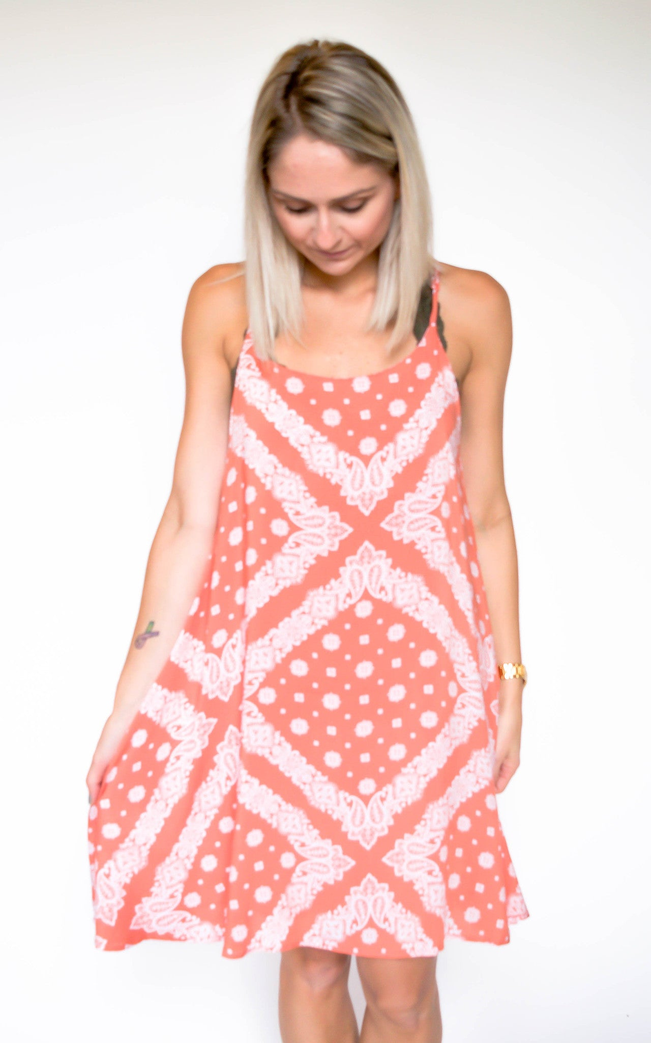 Follow The Sunset Coral Dress - Dawn and Rae Boutique
