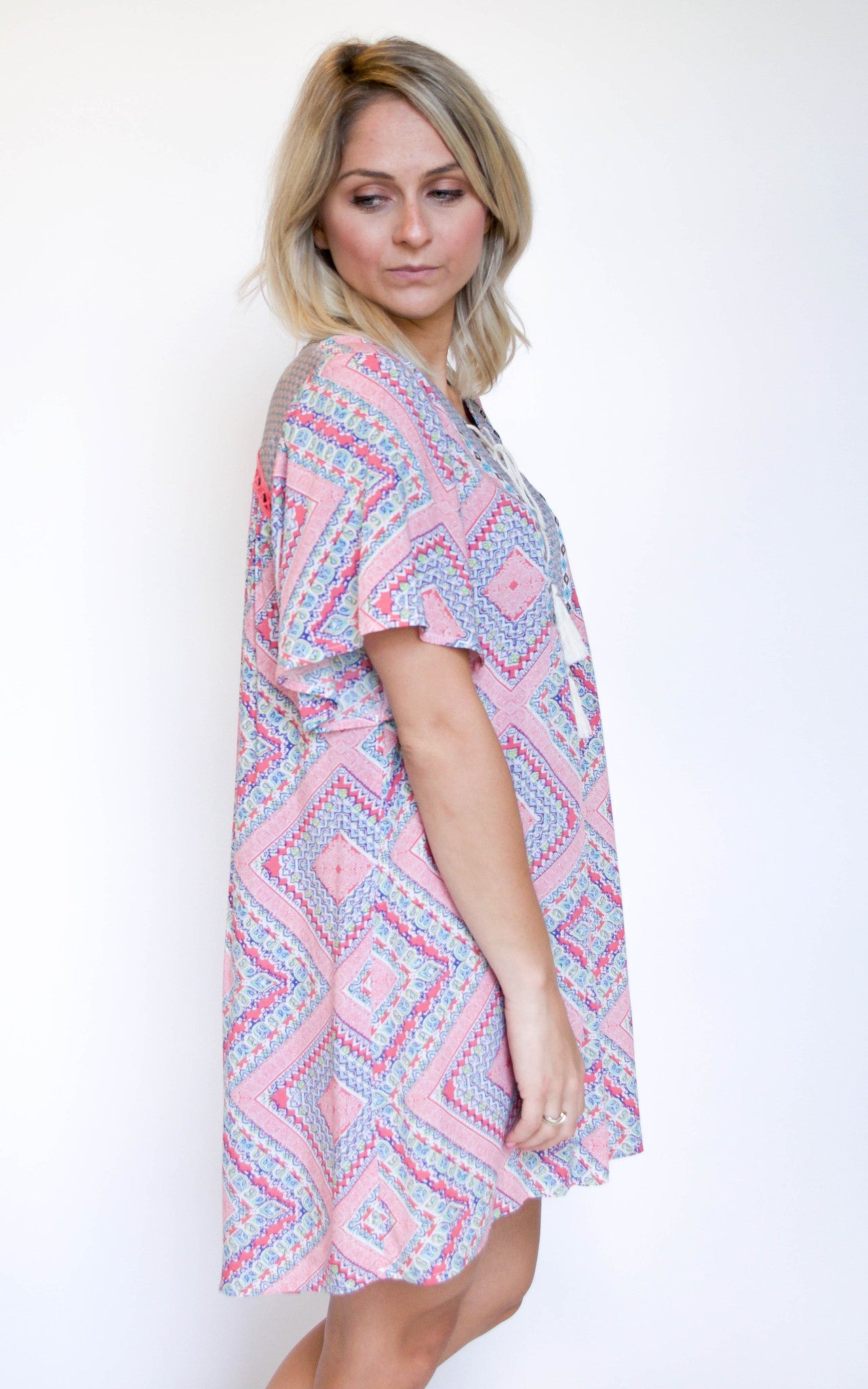 Lead The Way Pink Print Dress - Dawn and Rae Boutique