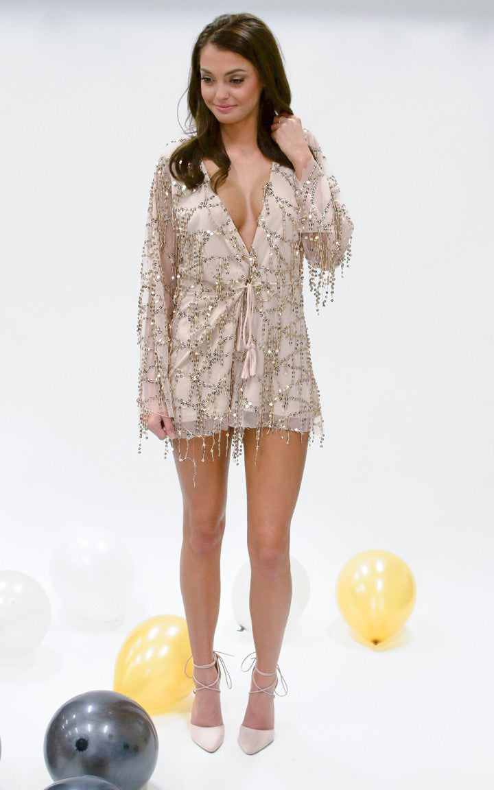 Madison Sequin Romper - Dawn and Rae Boutique