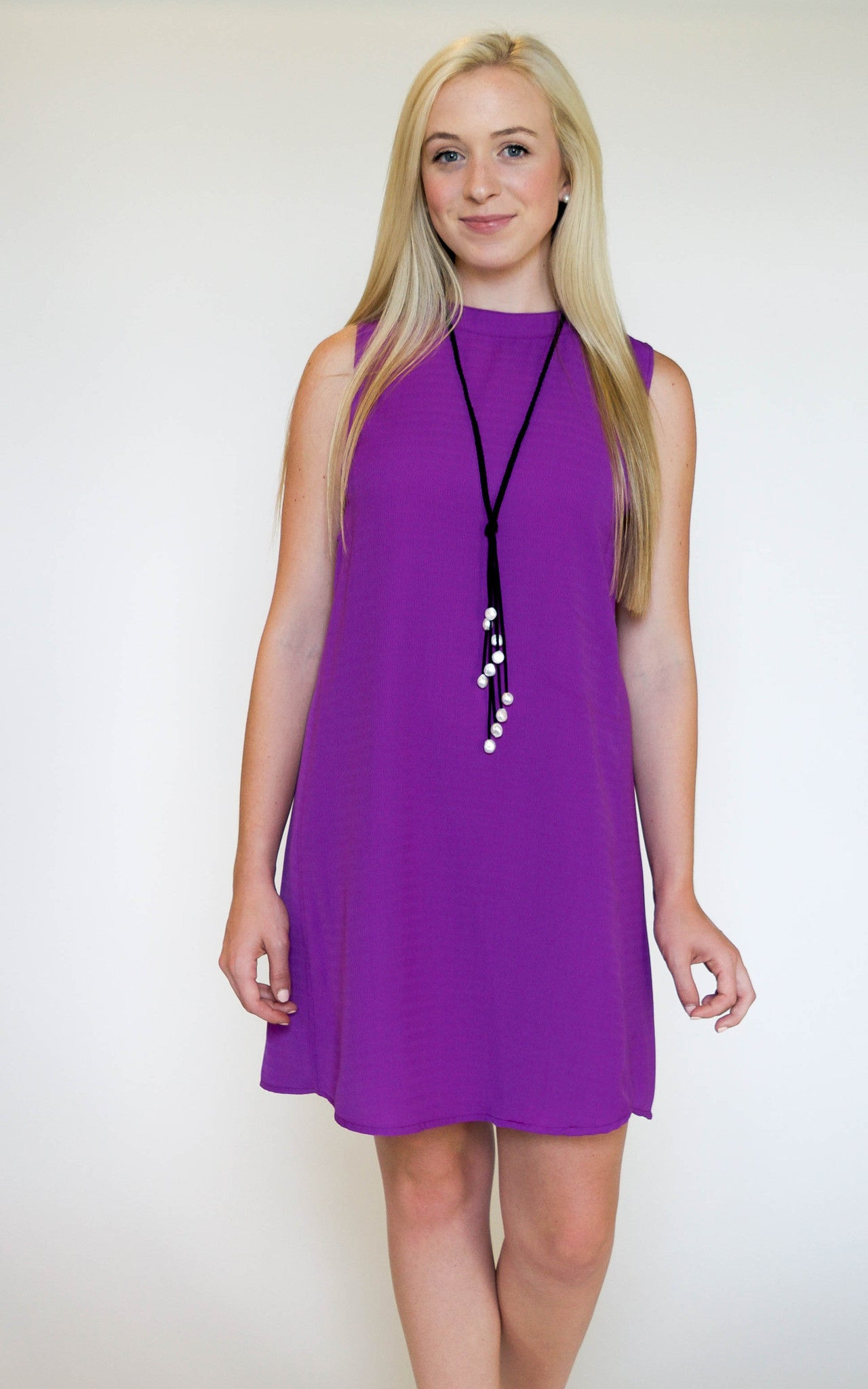 Purple Caged Cut Out Dress - Dawn and Rae Boutique