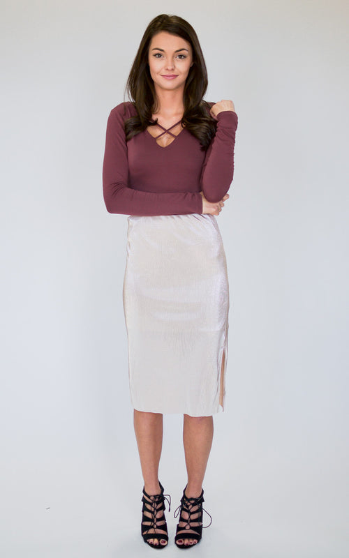 Antique Pleated Skirt - Dawn and Rae Boutique