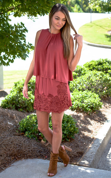 Rust Braid Mini Skirt Set - Endless Knot Boutique