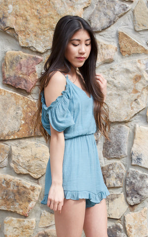 Blissful Dream Cold Shoulder Romper
