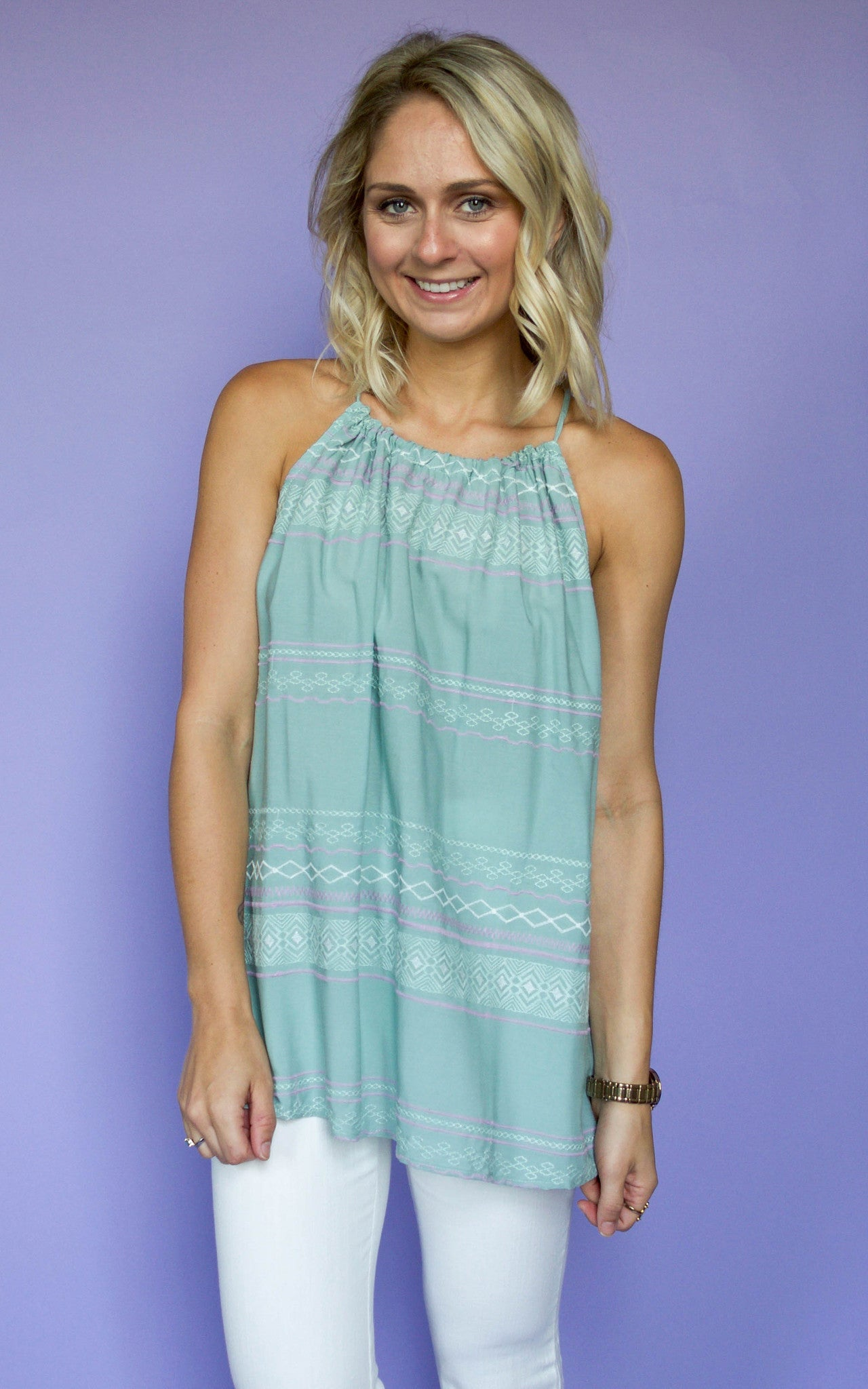 All Dolled Up Halter Top - Dawn and Rae Boutique