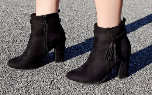 Black Blaze Booties - Dawn and Rae Boutique