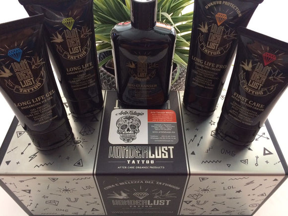 KIT TATTOO CARE Wonderlust Tattoo 5pz. 100ml (Hecho en Italia)