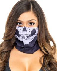 Black Skull Face Mask -  rave wear, rave outfits, edc, booty shorts