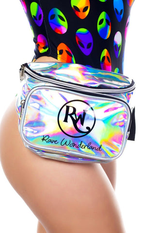 Holographic Silver Rave Fanny Pack