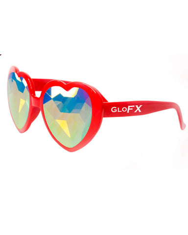 GloFX Heart Kaleidoscope Glasses