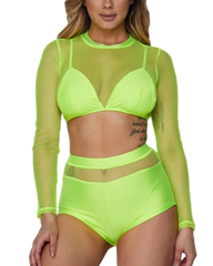 Be Alright Fishnet Swimsuit (Availble in 4 Colors)