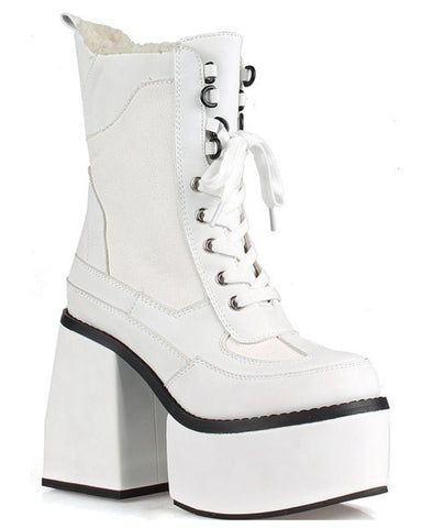 Closer To Heaven White Chunky Platform Boots