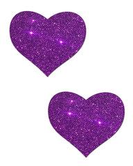 Heart Solid Glitter Nipple Pasties