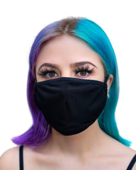 Black Face Mask With Filter (ADULT and KIDS sizes)