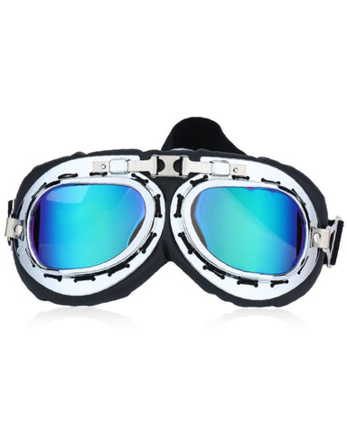 Steampunk Scooter Goggles with Holographic Lens