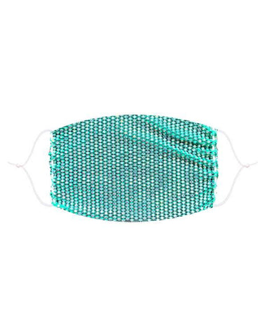 Neva Nude Teal Illuzion Mesh Jewel Face Mask