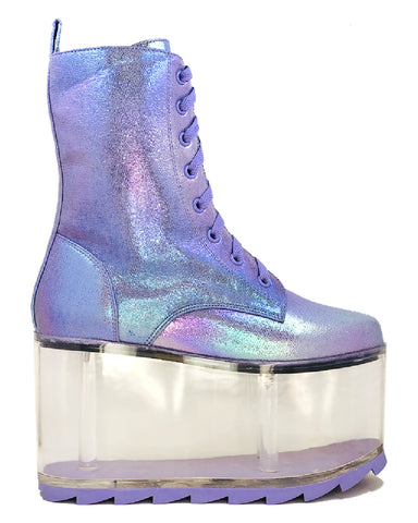YRU Qloud Ultra Lavender Platform Shoes