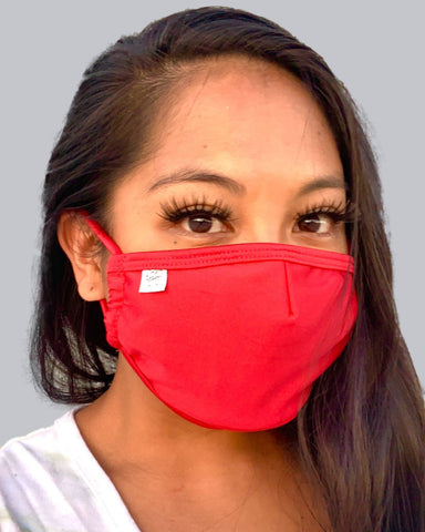 Matte Red Face Mask With Filter