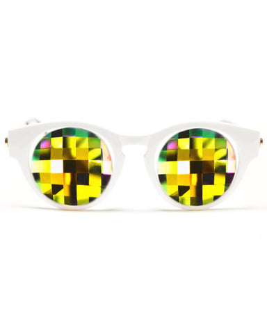 GloFX Cat Eye Kaleidoscope Glasses - Rainbow Bug Eye