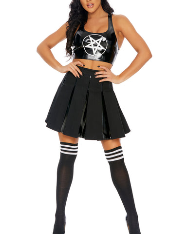 3pc Witchy Cheerleader Costume