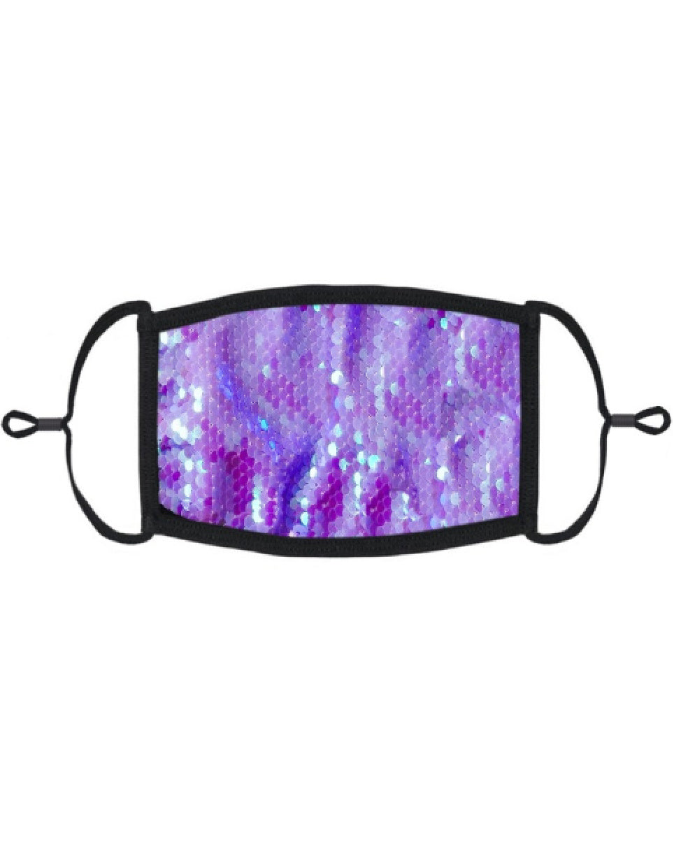 Periwinkle Sequin Mask with Filter
