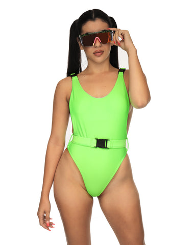 Buckle Up! Baywatch Rave Bodysuit