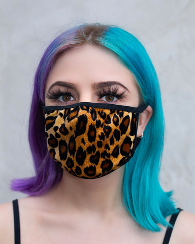 Leopard Velvet Surgical Face Mask