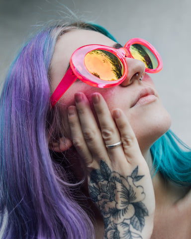 Retro Transparent Rim Sunglasses