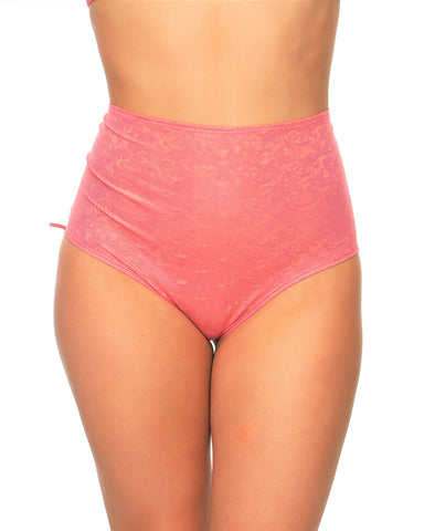 Candy Lace-Back High-Waist Booty Shorts
