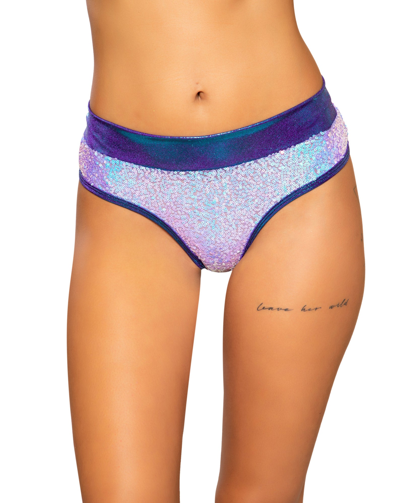 Sequin and Shimmer Low Rise Rave Booty Shorts