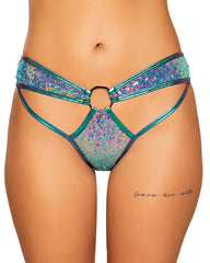 Shimmer and Sequin Cutout O-Ring Bottoms