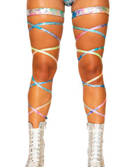 "Rainbow Splash 100"" Leg Wraps (Pair)"