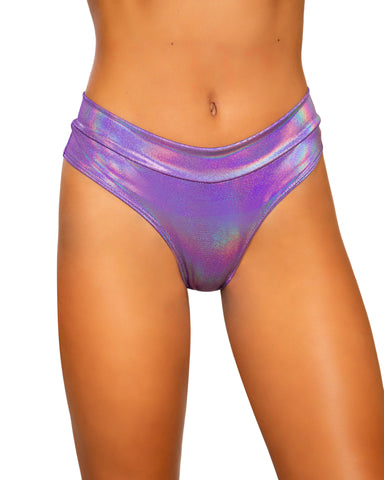 Shimmer Band High Rise Rave Shorts