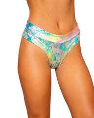 Rainbow Splash High Rise Shorts