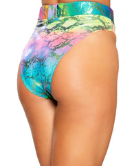 Rainbow Snake Skin Rave High Waist Bottoms