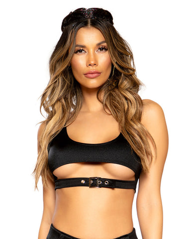 Underboob Buckle Crop Top