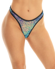 Sequin Cheeky Thong Bottoms