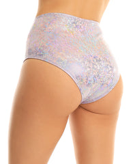 Iridescent High Waist Shorts