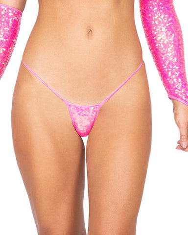 Sequin Cheeky Micro Bottoms