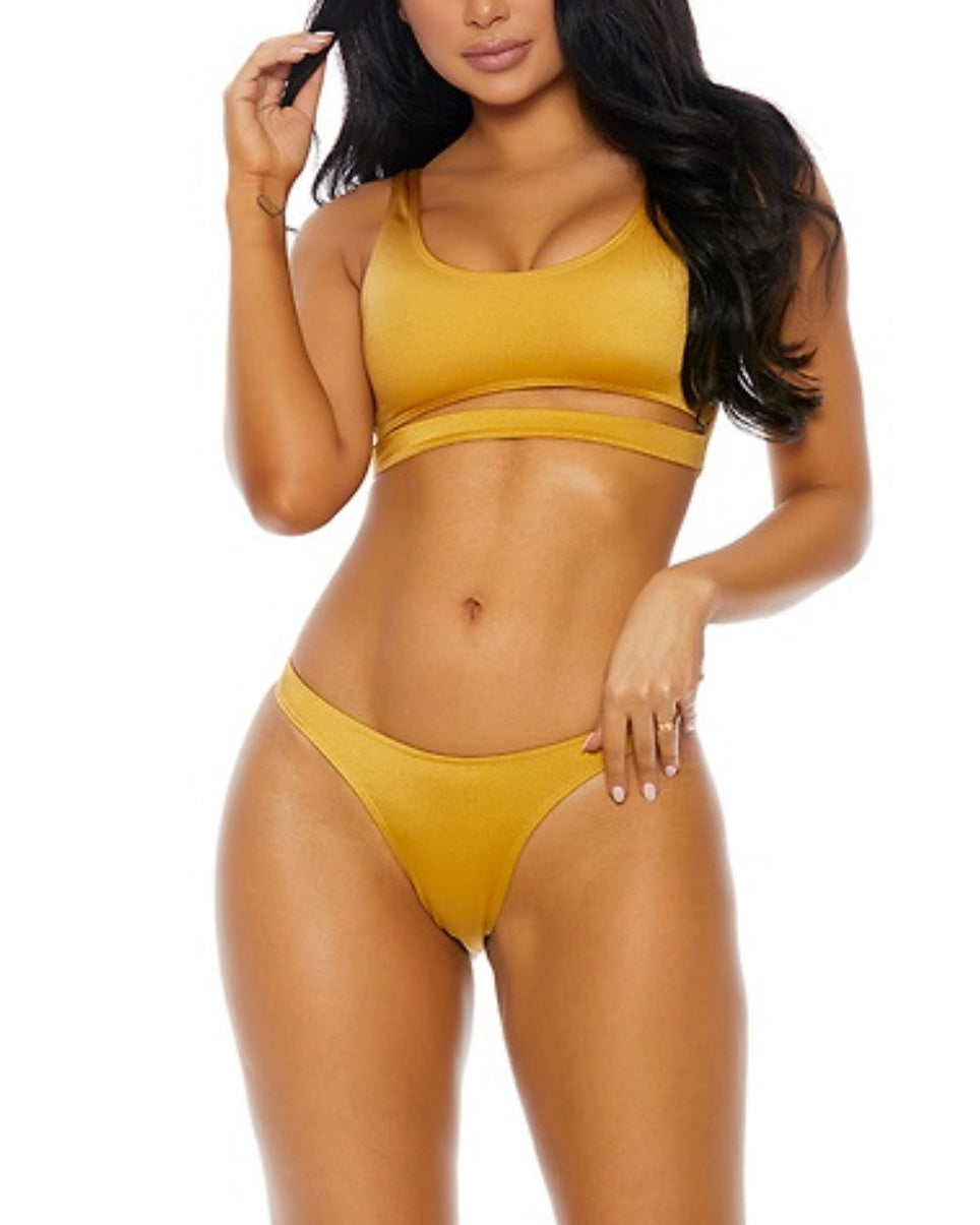 Sleek and Sporty Bikini Top & Bottom Set (Available in 3 Colors)