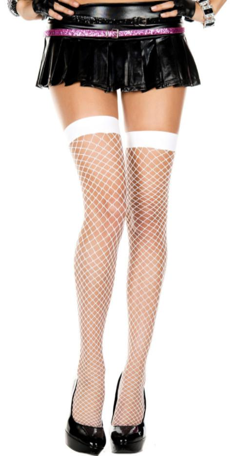 Diamond Fishnet Thigh High Spandex