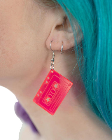 Old School Retro Cassette Earrings