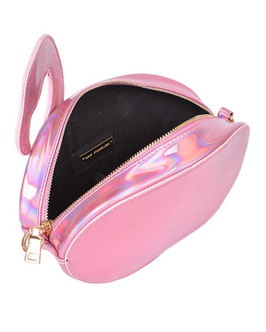 Flamingo Holographic Clutch