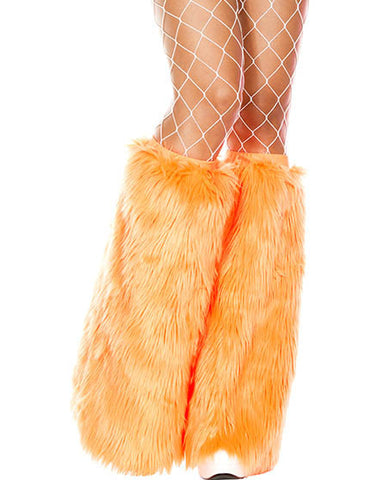 Orange Standard Solid Fluffies Legwarmers - Rave Wonderland, rave wear, rave outfits, rave bra, edm clothing, rave costumes, rave attire, rave top, rave shorts, booty shorts, rave party outfits, rave bottoms, rave outfit ideas, rave clothes, electric daisy, edc clothing, edc tops, rave clothing store, edc outfits