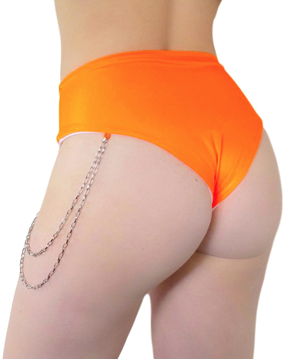 Techno Bish Chain High-Waist Shorts (Available In 6 Colors)