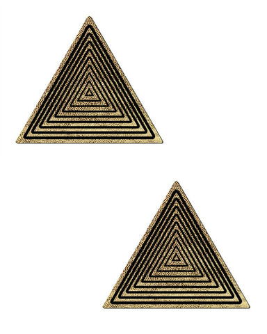 Trippy Triangle Glitter Pasties -  rave wear, rave outfits, edc, booty shorts