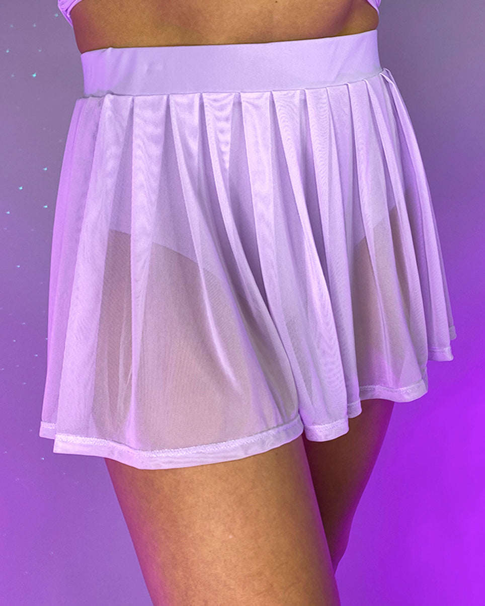 Spin Me Round Mesh Tie Skirt