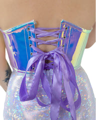 Wanderlust Iridescent Purple/Blue Bustier Top