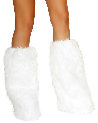 White Snow Fluffies -  rave wear, rave outfits, edc, booty shorts